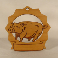 Pig Personalized Ornament by gclasergraphics on Etsy