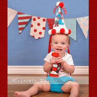 Cat in the Hat Birthday Party Decor Photo Prop Numbers
