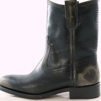 Frye USA Jet Boot Roper Women's Black Rustic Leather Cowboy Style Boots