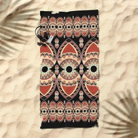 Ethnic petals. Pattern. Beach Towel by VanessaGF
