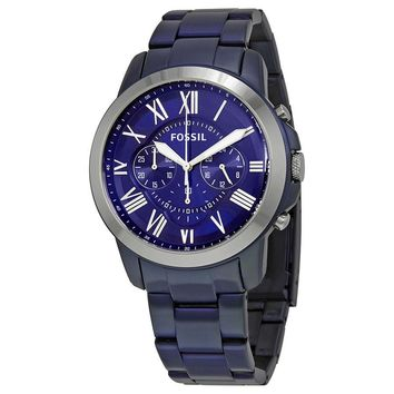 Fossil Grant Chronograph Blue Dial Mens Watch FS5230