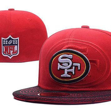 PEAPON San Francisco 49ers New Era 59FIFTY NFL Football Cap Red-White