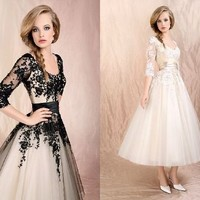 New black lace wedding/Evening Prom /Formal dress/SZ 6 8 10 12 14 16 in stock