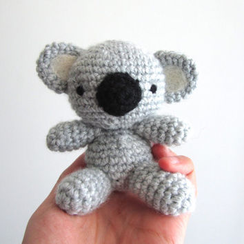 Crochet Koala, Amigurumi Koala, Plush Koala, Stuffed Koala Bear, Baby Toy Koala, Koala Softie, Australian animal, Pocket Pet, Soft Toy