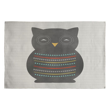 Allyson Johnson Native Owl 2 Woven Rug