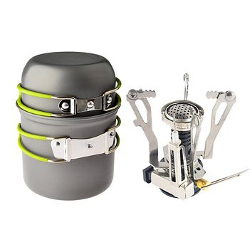Cooking Pot + Canister Stove