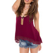 Glowing Ember Top - Burgundy