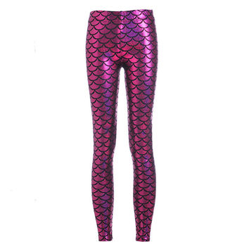 Unique Mermaid Scales Shiny Seamless Yoga Pants Women Leggins Fitness Running Sports Pants Female Athletic Leggings Plus XXXL