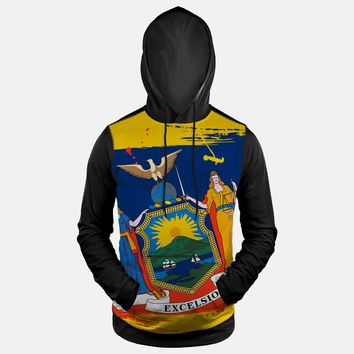New York State Flag Hoodie (Ships in 2 Weeks)