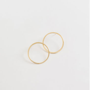 Riley Gold Frontal Hoops
