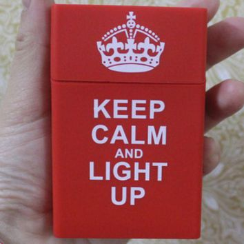 VONE7N2 Adidas & CHICAGO BULLS & KEEP CALM AND LIGHT UP & Chromehearts Fashionable Silicone Case Smoking Case Red