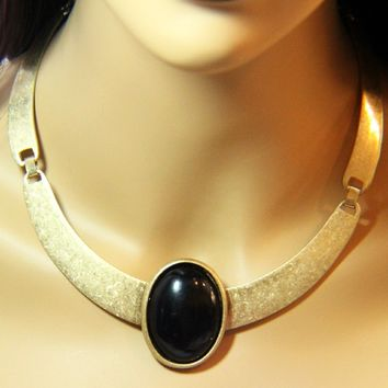 Industrial Oval Pedant Choker Necklace
