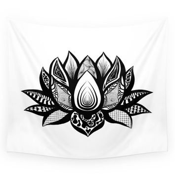 Society6 Ornate Lotus Wall Tapestry