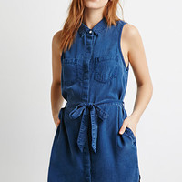 Life in Progress Belted Shirt Dress