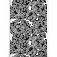 Sample of Flora Boutique Wallpaper in Original Black by Milton & King