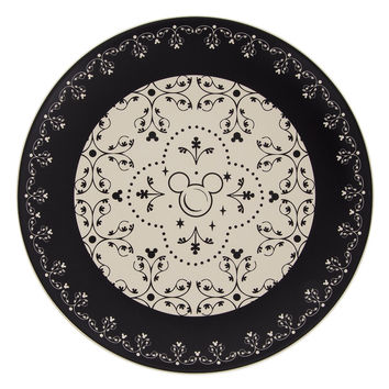 Disney Parks Kitchen Mickey Icon Ceramic Dinner Plate New