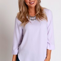 Rounded Zipper Blouse Lavender