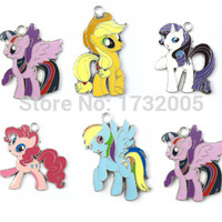 New 20 Pcs  Mixed My Little Pony  Charm Pendants DIY Jewelry Making  Free Shipping  MB0825