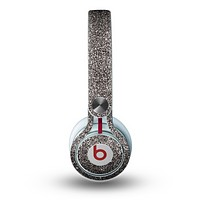 The Black Glitter Ultra Metallic Skin for the Beats by Dre Mixr Headphones