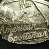Vintage American Sportsman Belt Buckle