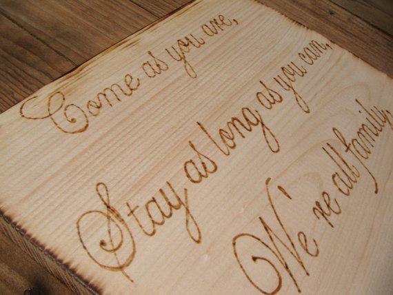 Design Your Own Wood Burned Sign Rustic From