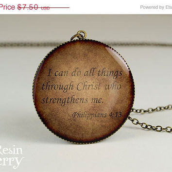 ON SALE: bible quotes necklace pendants,charm jewelry,handmade pendant charms- Q0013CP