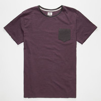 Quiksilver Feeder Mens Pocket Tee Wine  In Sizes