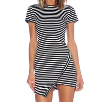 Wilde Heart Earn Your Stripes Dress in Black