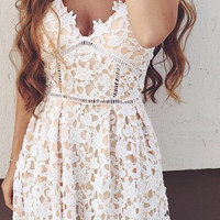 'Cassidy' White Lace Sundress