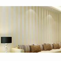 Modern Minimalist Wallpaper Stripe Flocking Wall Paper Glitter Non-woven Background Wall Wallpaper For Living Room  WP16052
