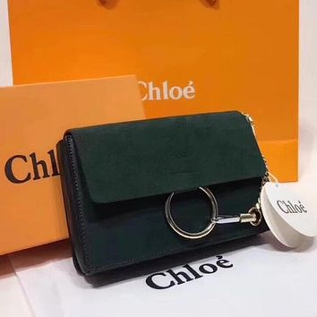 Chloe Trending Women Shopping Chain Leather Crossbody Satchel Shoulder Bag Green I