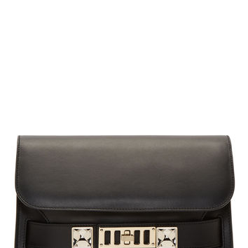 Proenza Schouler Black Leather Ps11 Classic Shoulder Bag