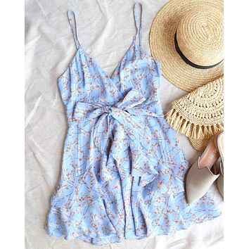 Keep it a Secret - Tiered Ruffle Romper - Blue