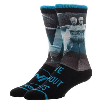 Westworld Logo Live without Limits Crew Socks