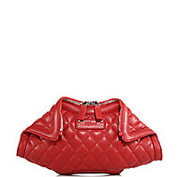 Alexander McQueen - De Manta Small Quilted Leather Clutch - Saks Fifth Avenue Mobile