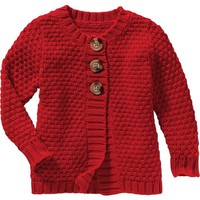 Chunky-Knit Swing Cardis for Baby