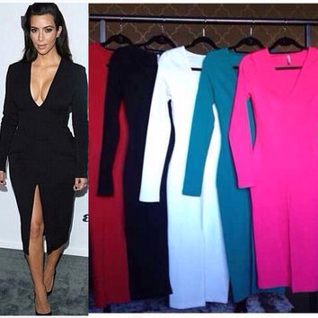 Kimmy long Sleeve Slit Dress