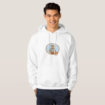 Donkey Concrete Saw Consaw Circle Cartoon Hoodie