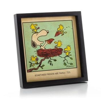 Peanuts Snoopy and Woodstock Friends are Family Framed Print