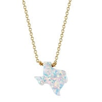 Texas White Fire Opal Necklace