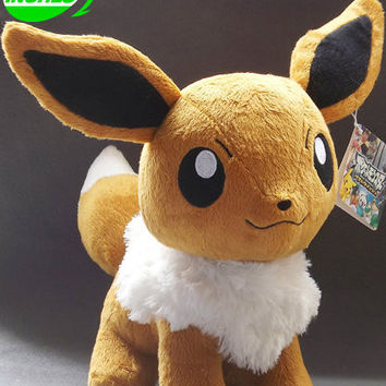 "Free Shipping Japanese Anime Cartoon Pokemon Plush Toys 12"" Eevee Stuffed Toys Dolls Cosplay Gifts"