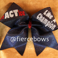 PrACTice Like a Champion Cheer Bow