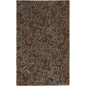 Area Rug - 3.25' X 5.25' - Colors Include Powder Blue And Dark Chocolate