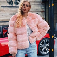 Serenity Faux Fur Coat - Pink