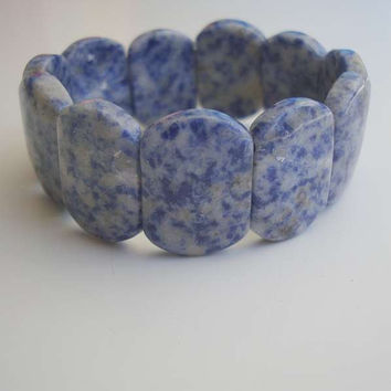 Russian Lapis Lazuli Wide Expansion Bracelet Jewelry