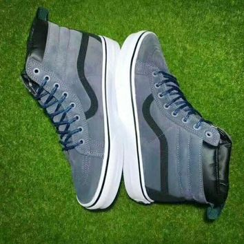 CREYONS Vans Black Blue Ankle Boots Old Skool Canvas Flat Sneakers Sport Shoes G-CSXY