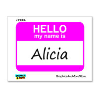 Alicia Hello My Name Is Sticker