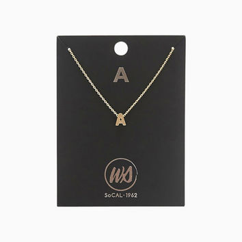 A Initial Necklace | Wet Seal