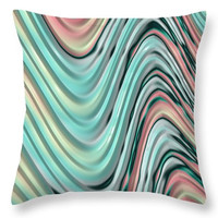SPRING THROW PILLOW - Pastel fractal design, square or lumbar cushion, home decor, dorm decor, child's bedding, soft pastel hues