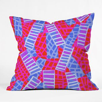 Sarah Bagshaw Oblique Lino Throw Pillow